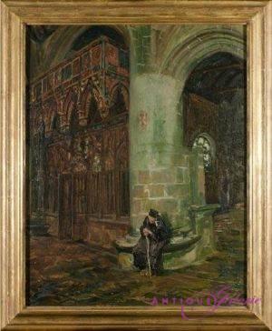 Arthur Midy 1887-1944 Öl auf Karton 60 x 45 cm