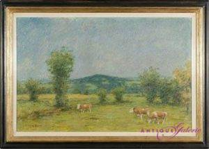 August Rixen 1897-1949 Öl auf Holz 40 x 60 cm