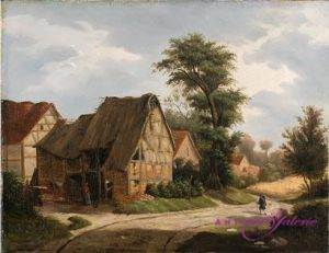 Caspar Schreuen 1810-1887 Öl auf Holz 43 x 36 cm