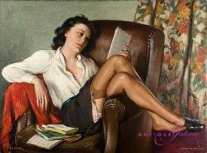 Daniel Sabater Y Salabert 1888-1951 Öl auf Leinwand 100 x 72 cm