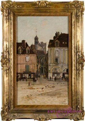 H. C. Delpy Dieppe 1842-1910 Öl auf Karton