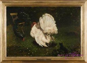Eduard Iveland 1830-1896 Öl auf Leinwand 30 x 47 cm