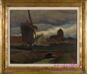 Eugen Kampf Öl auf Karton 37 x 29 cm