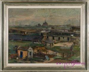Georg Hambüchen 1901-1971 Öl auf Karton (Nr.2) 44 x 36 cm