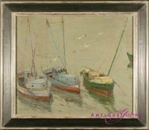 Georg Hambüchen 1901-1971 Öl auf Karton (Nr.2) 45 x 36 cm