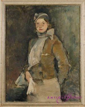 Georg Hambüchen 1901-1971 Öl auf Karton (Nr.2) 48 x 38 cm