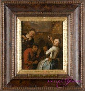 Gerrit Lundens 1622-1683 Öl auf Holz 22 x 18 cm