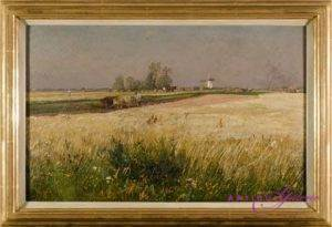 Hugo Mühlig 1854-1929 Öl auf Leinwand 60 x 40 cm