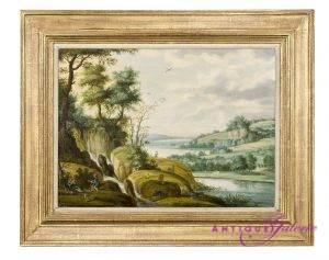 Izaach van Oosten 1610-1661 Landschaft Öl auf Holz 47 x 34 cm