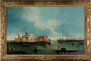 A. Marnier Venedig 19. Jahrhundert 1849 Öl auf Leinwand 84 x 54 cm