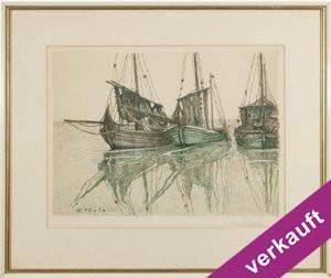 Perfall 1882-1961 Farblithographie 40 x 50 cm