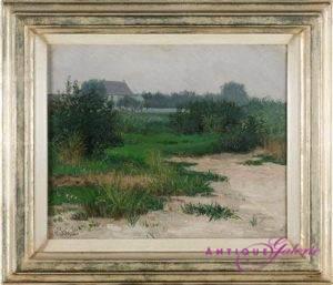 Peter Greeff 1865-1939 Öl auf Holz 28 x 24 cm