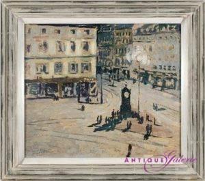 Richard Bloos 1878-1956 Öl auf Holz 37 x 37 cm