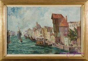 Maler unbekannt Danzig Öl auf Leinwand