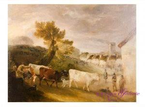Maler unbekannt engl. Meister 19. Jahrhundert 90 x 70 cm