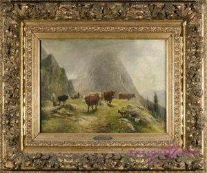 L. Voltz 1825-1911 Öl auf Leinwand 40 x 36 cm