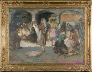 Walter Geffcken 1872-1950 Öl auf Holz 60 x 50 cm