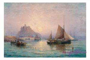 William Georgs Thornley 1857-1925 Mont Saint Michel Öl auf Leinwand 75 x 52 cm
