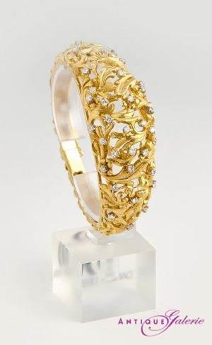 Armreif 18 Karat Gold mit Brillant