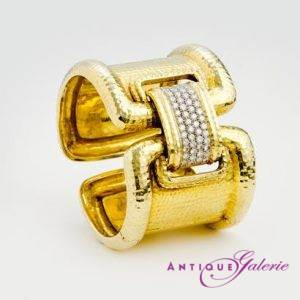 Armreif 18 Karat Gold mit Brillanten