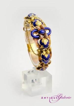 Armreif ca. 1860 18 Karat Gold
