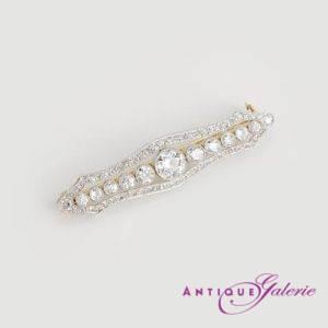 Art-Deco Brosche Platin mit Diamanten (Nr.6)