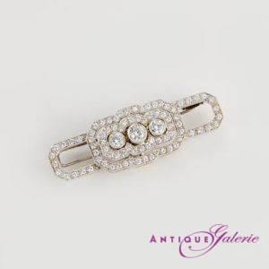 Art-Deco Brosche Platin mit Diamanten (Nr.5)