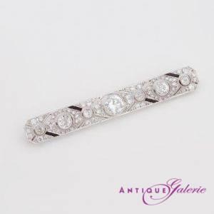 Art-Deco Brosche Platin mit Diamanten (Nr.3)