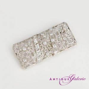 Art-Deco Brosche Diamant/Platin (Nr.1)