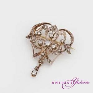 Brosche mit Diamant 14 Karat Gold