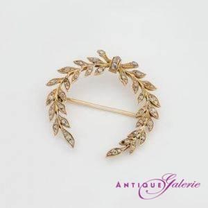 Brosche mit Diamant 18 Karat Gold