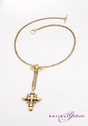 Goldanhänger mit Kreuz 17. Jahrhundert 20 Karat Gold