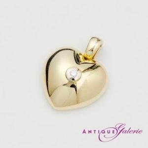 Herzanhänger mit Brillant 18 Karat Gold