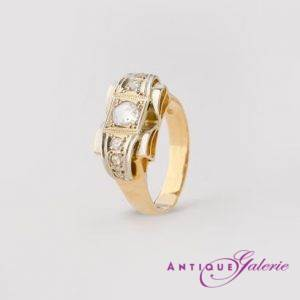 Ring 14 Karat Gold mit Diamanten