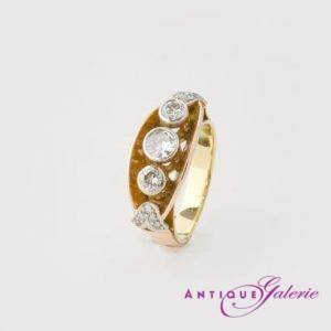 Ring mit Brillant 18 Karat Gold