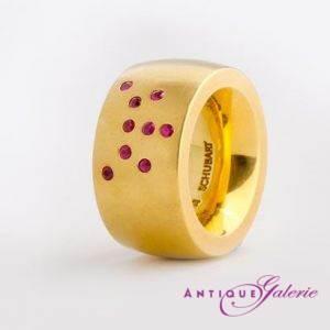 Schubart-Ring mit Rubinen 18 Karat Gold