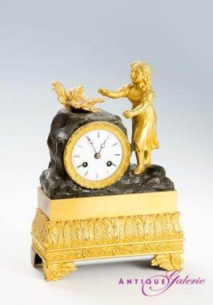 Kaminuhr Frankreich Bronze 1815