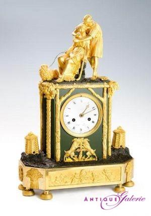 Kaminuhr Frankreich Bronze 1805