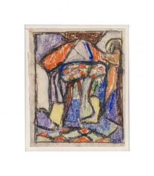 Adolf Richard Hölzel 1853 - 1934 Zeichnung Aquarell Pastell/Papier 11x14 cm