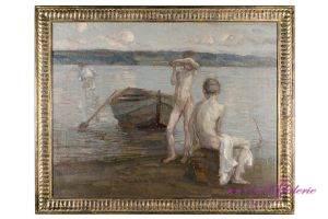 Christian Adam Landenberger 1862-1927 Öl auf Leinwand  88 x 68 cm