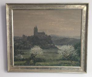 Max Clarenbach 1880-1952 Dom zu Limburg a.d. Lahr im Frühling Öl/ Leinwand 62 x 52 cm