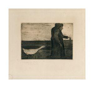 Paula Modersohn Die Frau mit der Gans 12,5, x 18 cm Aquatinta