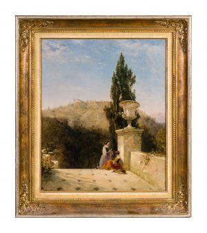 George Edwards Hering 1805 – 1879 Italien / Landschaft 41 x 94 cm Öl / Leinwand Signiert