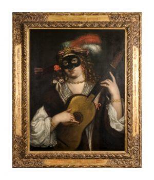 Gerolamo Forabosco ca. 1631 - ca. 1689 Portrait einer Kurtisane Dieser Meister gehört zu den bedeutensten Vertretern der oberitalienischen Malerei. Gutachter: Dr. Paul Hofstätter - Wien