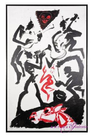 Helge Leiberg Acryl 250 x 150 cm