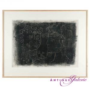 Jean Cocteau 1889-1962 Ölkreide 60 x 40 cm