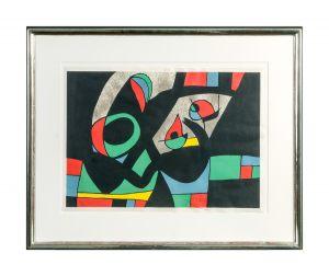 Joan Miró 1893-1983 Le Lezard aux Plumes d'Or 34x48 cm Radierung Multiple 1971 v/x signiert