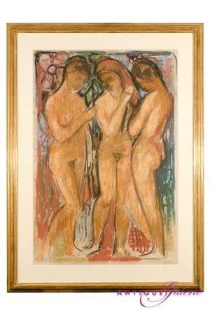 Karl Stachelscheid 1917-1970  Ölkreide auf Papier  83 x 53 cm
