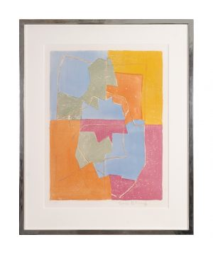 Serge Poliakoff 1900-1969 Farblithographie signiert Radierung Multiple