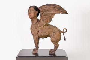 Stephan Balkenhol Spinx 2014 Bronze, handbemalt 54 x 27 x 45 cm